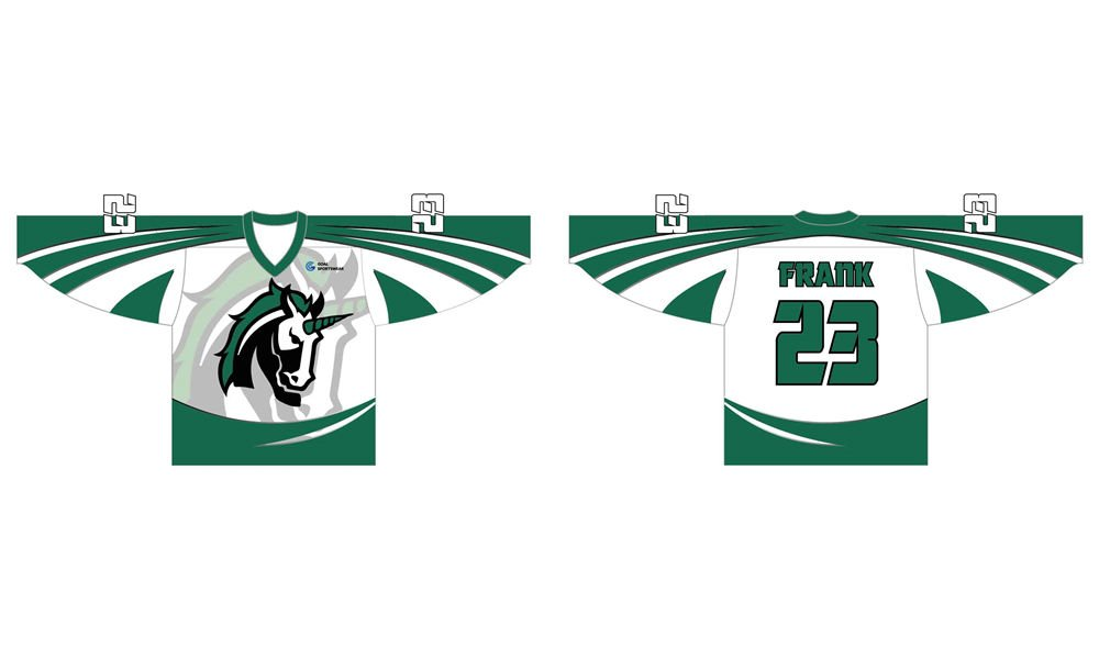 Sublimation high quality custom youth v neck hockey jerseys