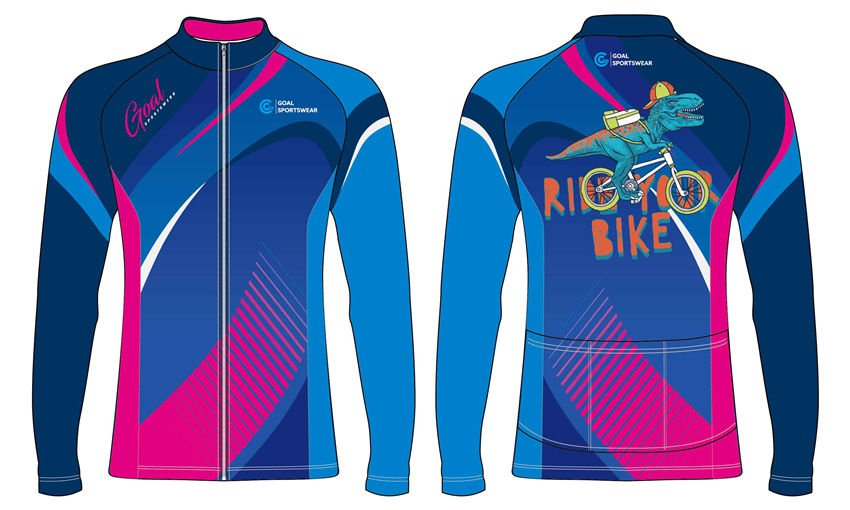 Sublimation printing polyester custom team long sleeve cycling jerseys