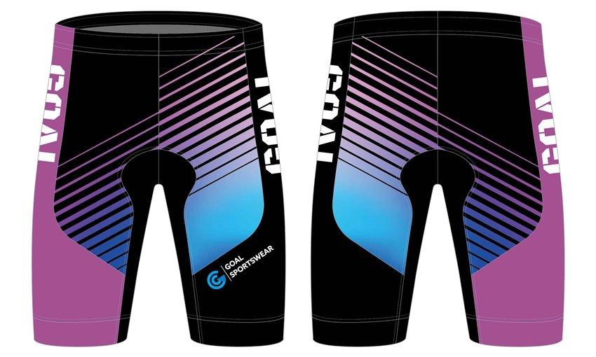 Sublimation printing polyester spandex custom team cycling shorts