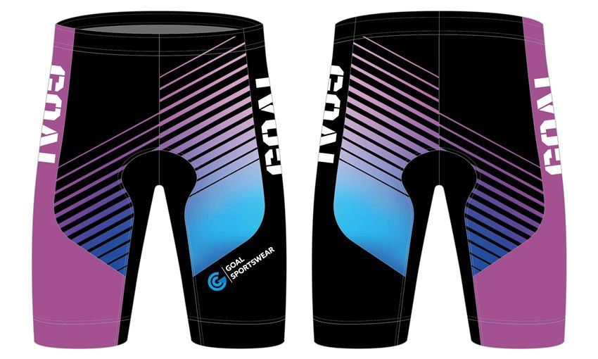 Sublimation printing polyester spandex custom team cycling shorts