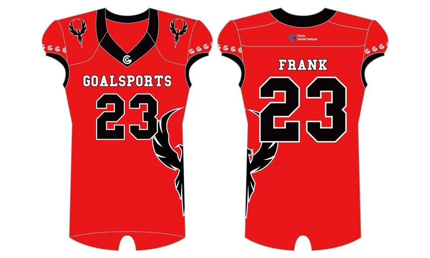 Sublimation printing polyester spandex custom team football jerseys