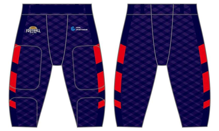 Sublimation printing polyester spandex custom team football pants
