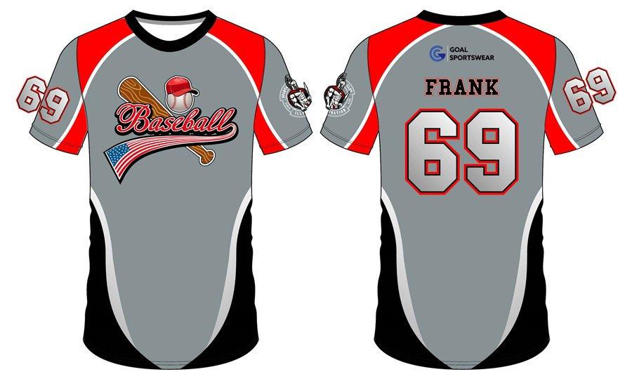 Wholesale high quality sublimation custom team design baseball tee shirts
