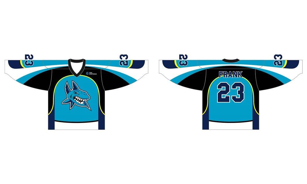 Wholesale high quality sublimation printing custom ice hockey jerseys