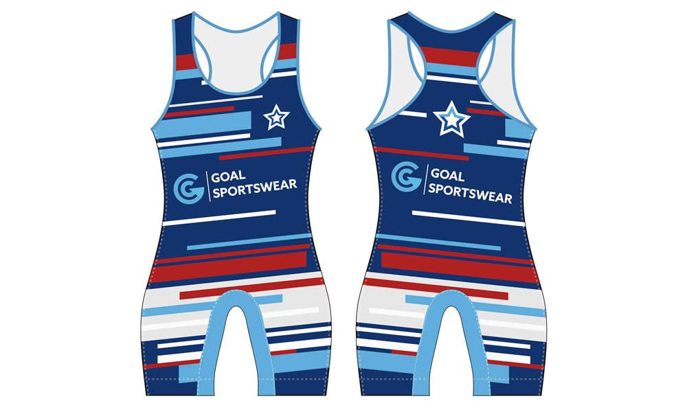 Wholesale high quality sublimation printing custom wrestling singlets