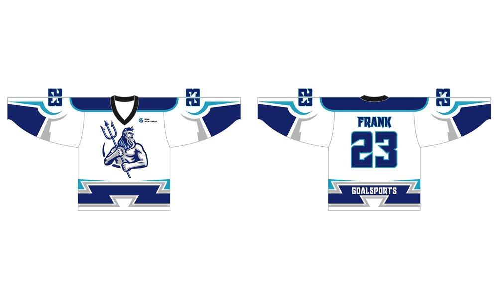 Wholesale pro quality custom design sublimated kids hockey jerseys