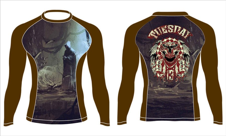 Wholesale pro quality custom design sublimated youth MMA rash guard