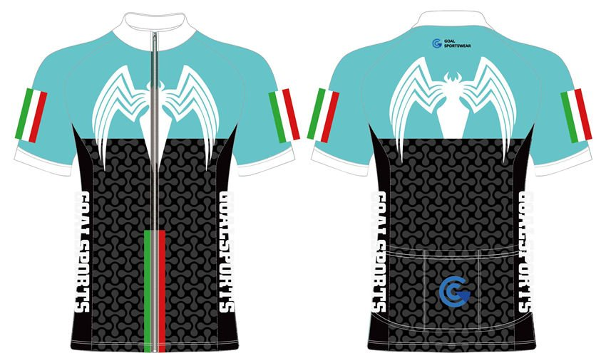 Wholesale pro quality custom design sublimated youth cycling jerseys