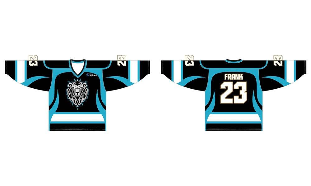 wholesale 100% polyester custom made sublimation hockey jersey