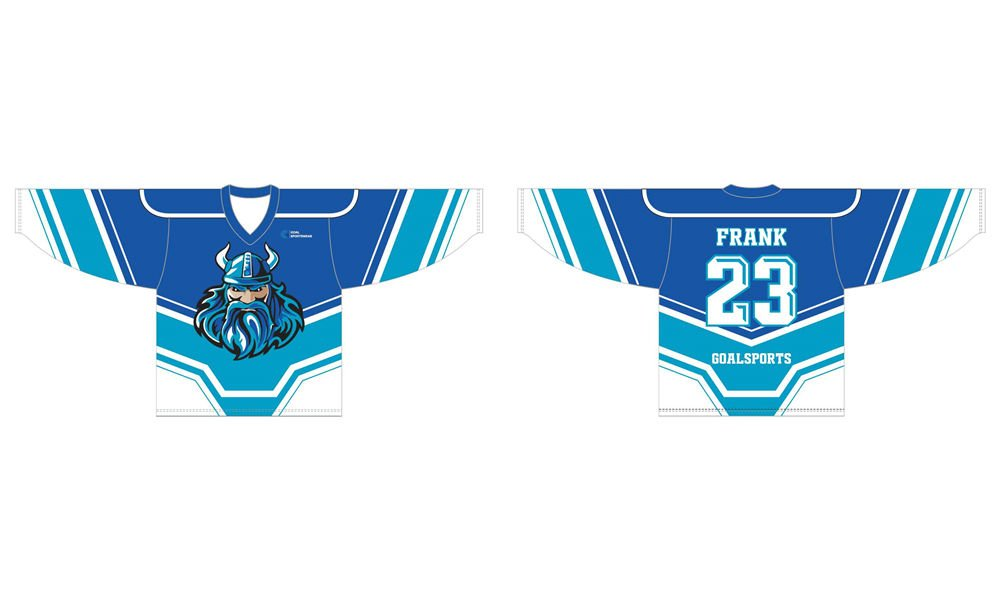 wholesale 100% polyester custom printed college hockey jersey