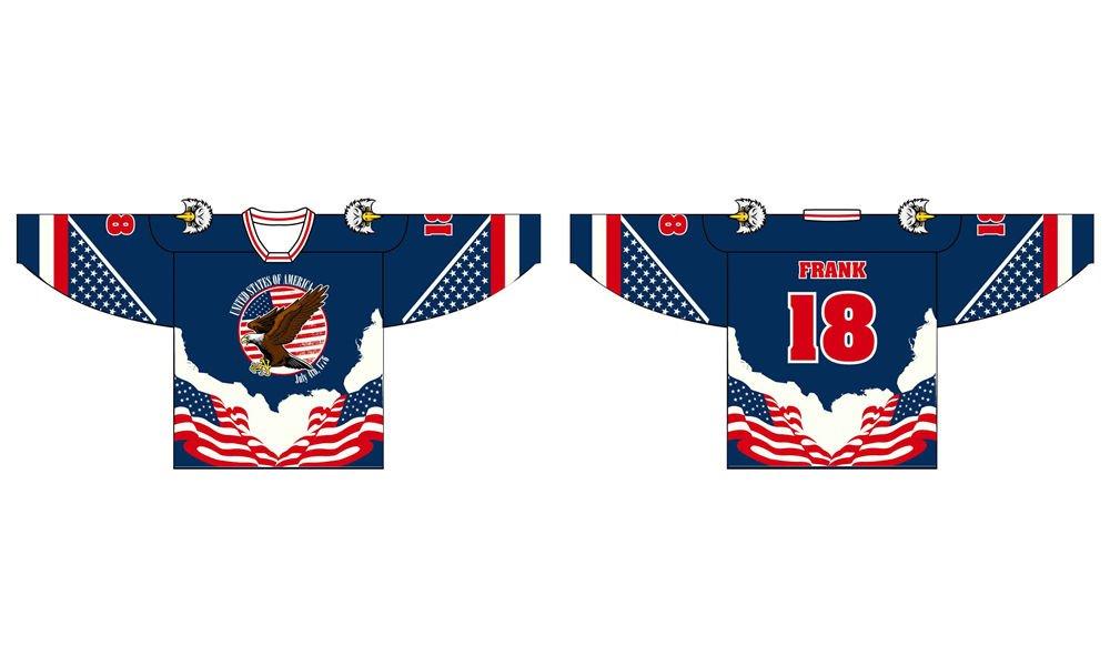 wholesale custom design sublimation printing hockey jerseys China