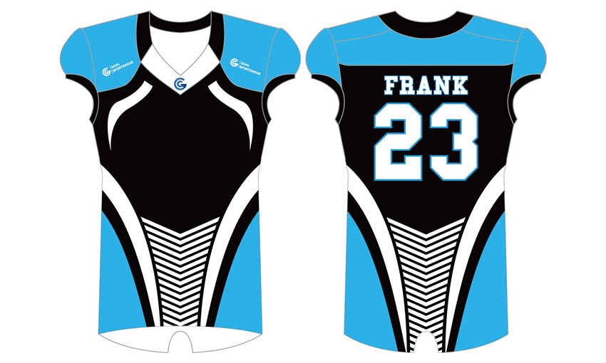 wholesale polyester spandex custom made sublimation football jersey