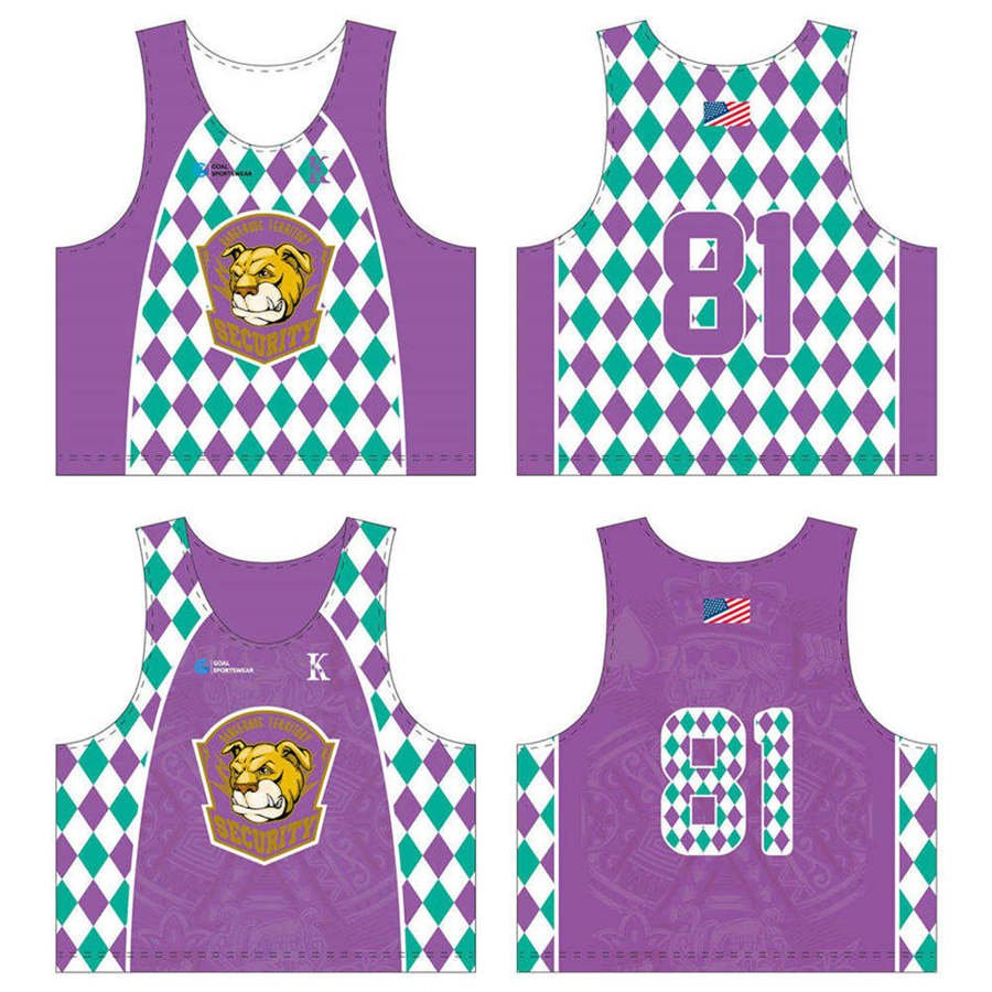 wholesale pro mesh custom sublimated printed lacrosse reversible pinnies