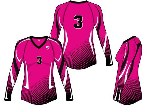 Long sleeve sublimated volleyball jersey