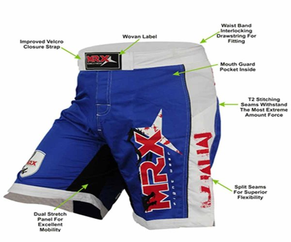 Parts of wrestling shorts