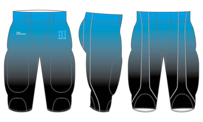 Custom design sublimated youth american football pants
