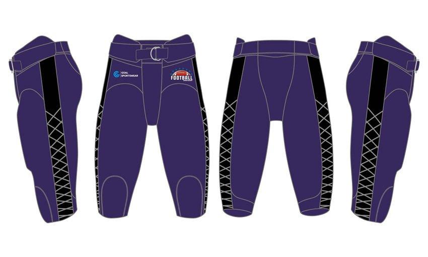 Custom wholesale sublimated printed youth football pants