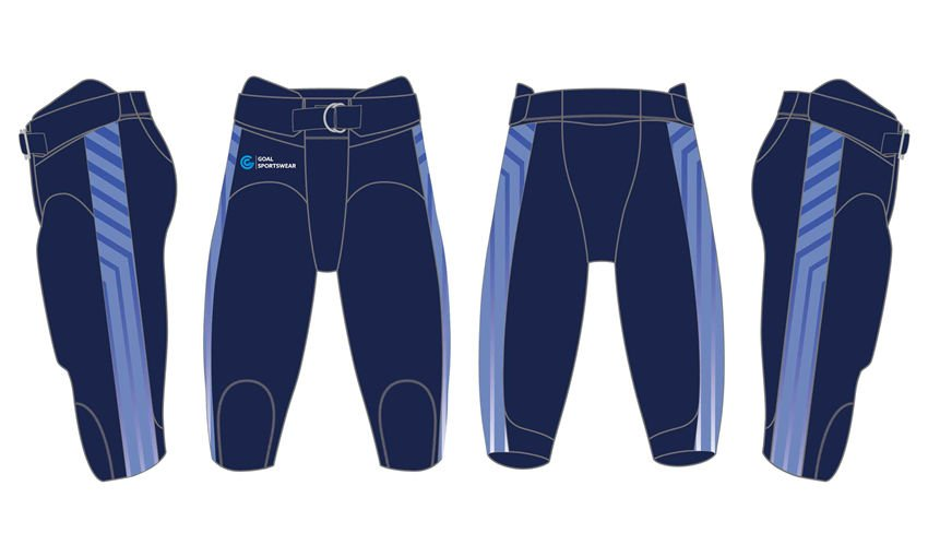 Full dye sublimation wholesale custom made football pants
