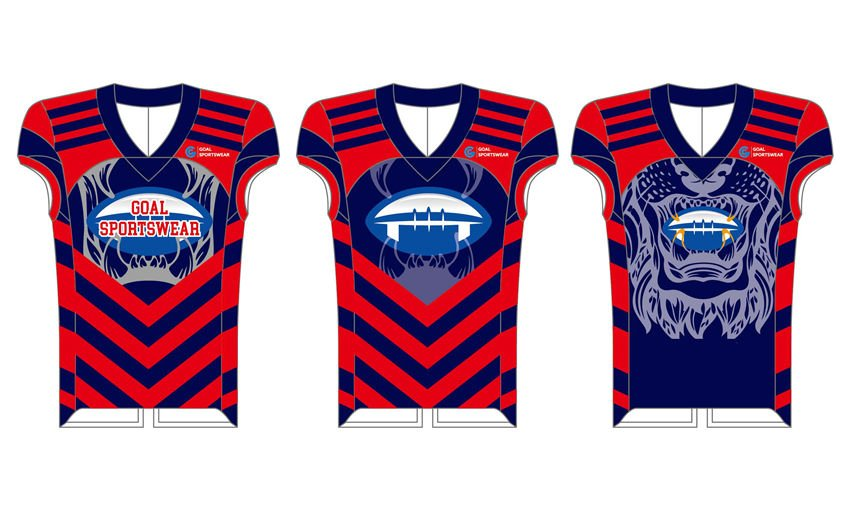 Wholesale high quality sublimation custom team football jerseys