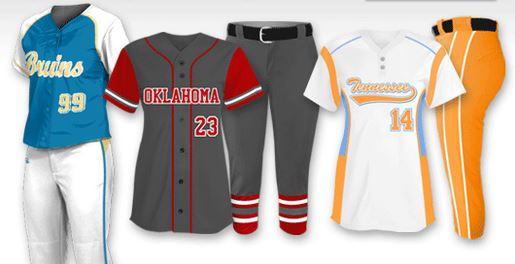 Custom softbal uniform team package