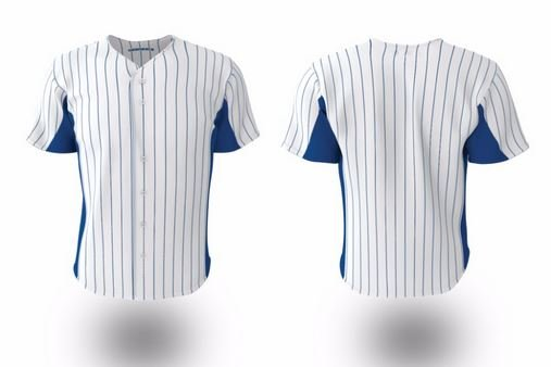 Collar design for softball jersey