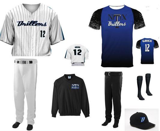 Custom baseball uniform package