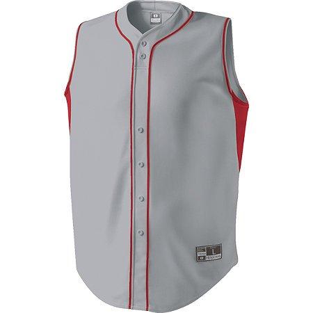Full button sleeveless baseball jersey