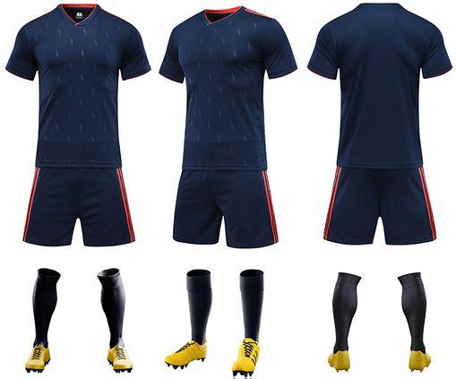 Complete soccer jersey kit