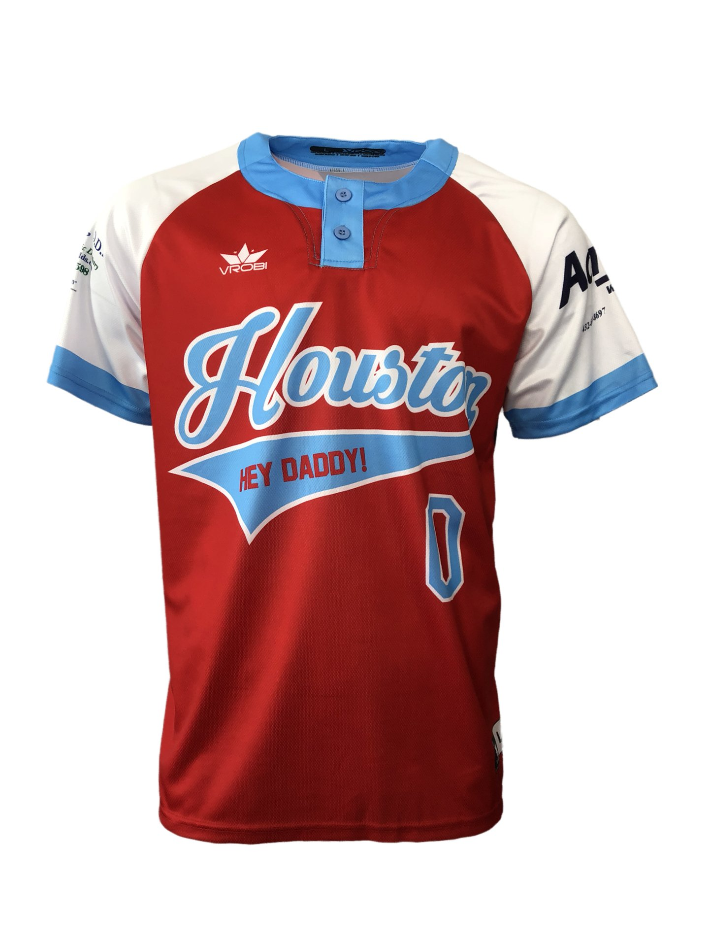 5 Two button slow pitch softball jersey