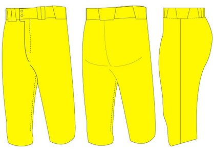 Softball pant design template