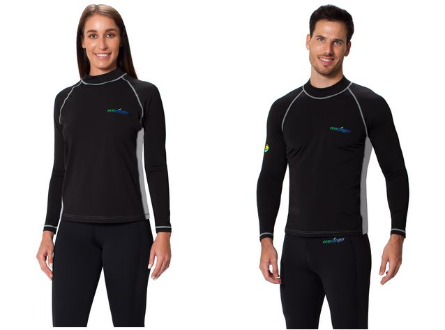 Female vs male rash guard shirts