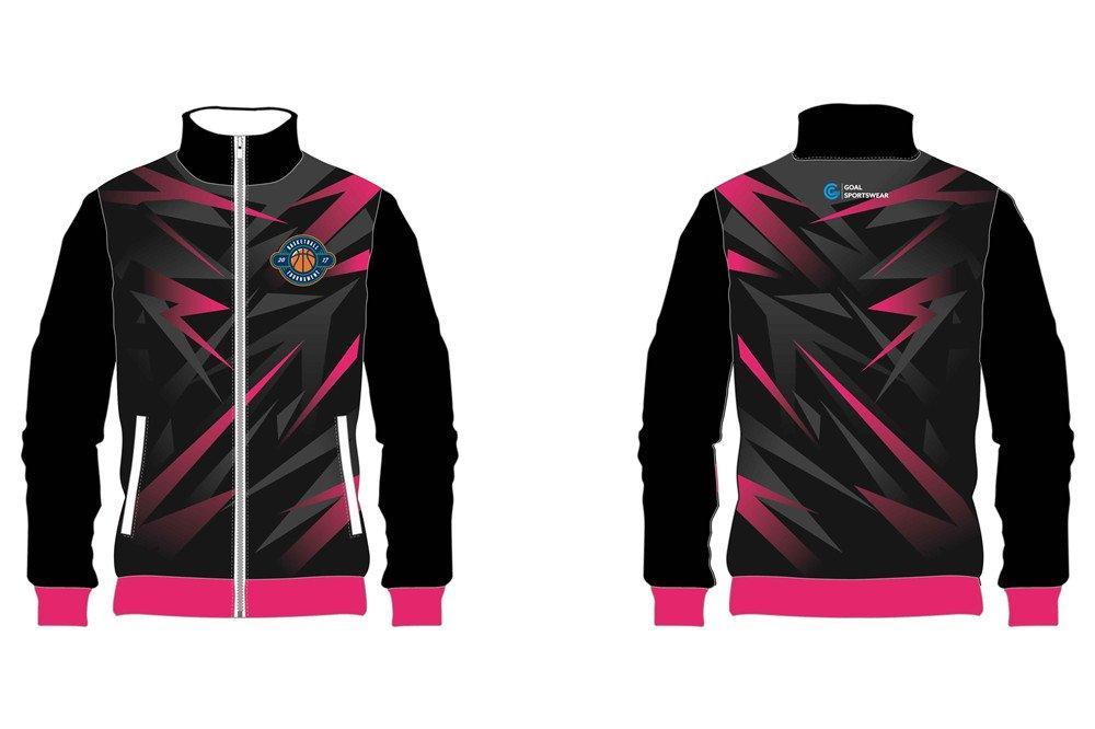 custom black design basketball jackets