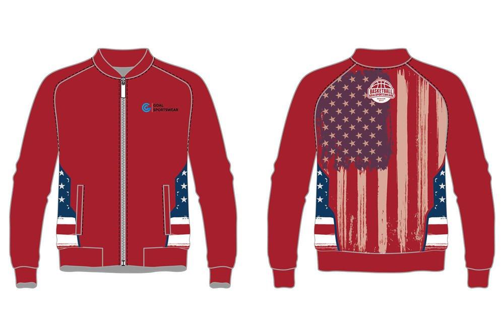 custom maroon basketball warm up jackets