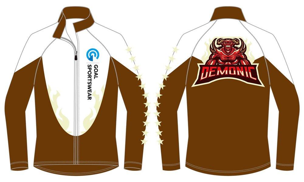 custom sublimated zipper up baseball jackets