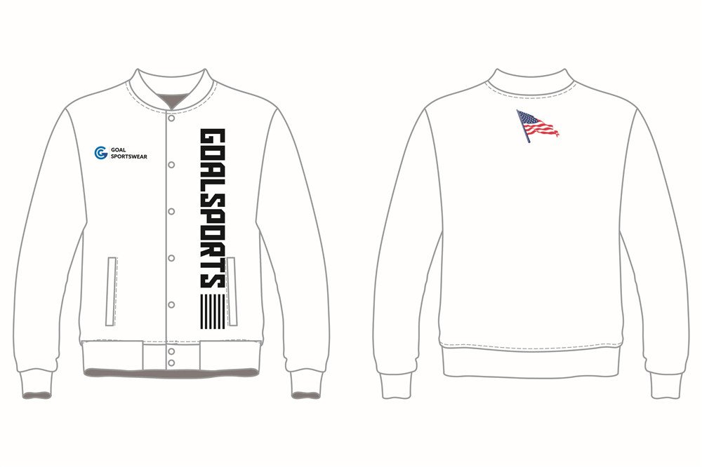 custom white baseball jackets