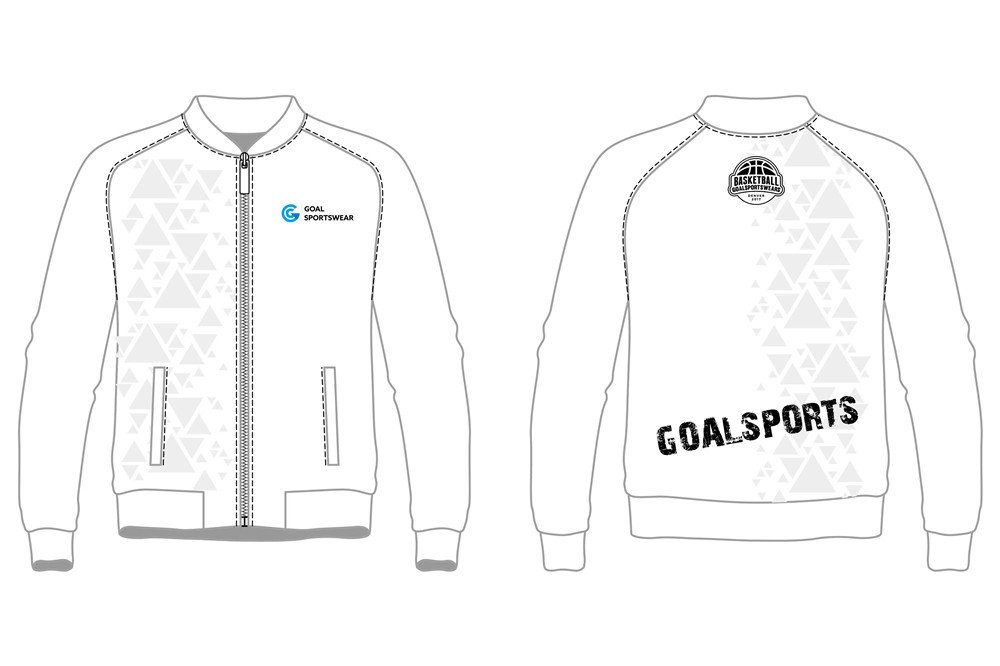 custom white design basketball jackets