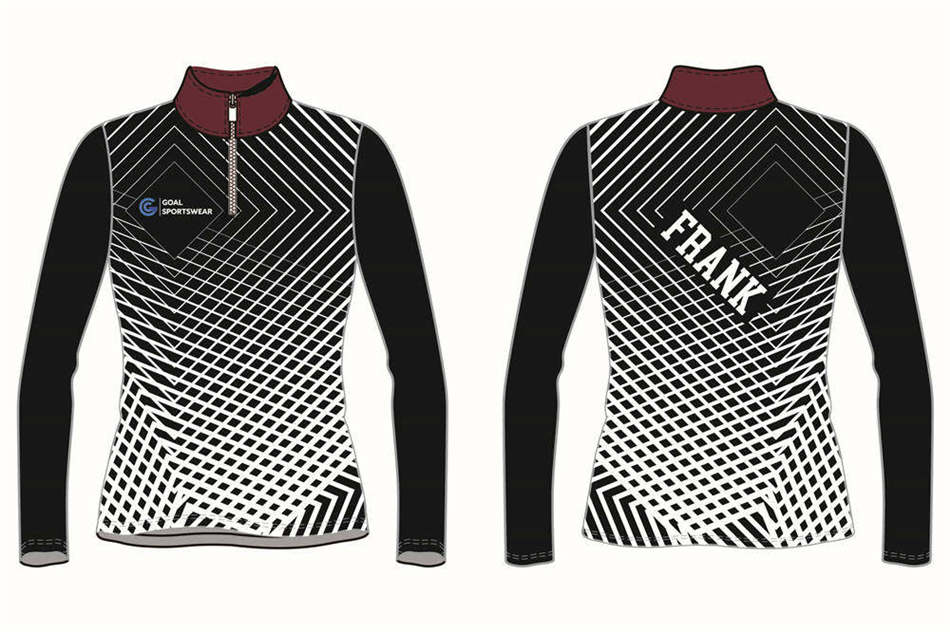 custom womens 1_4 zipper baseball jackets