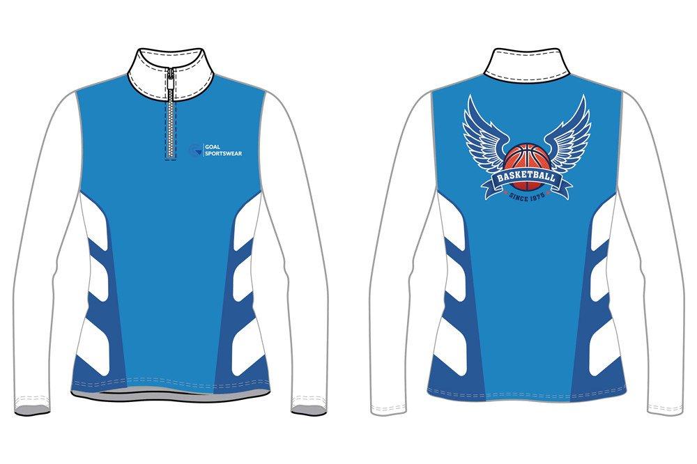custom womens 1_4 zipper basketball jackets