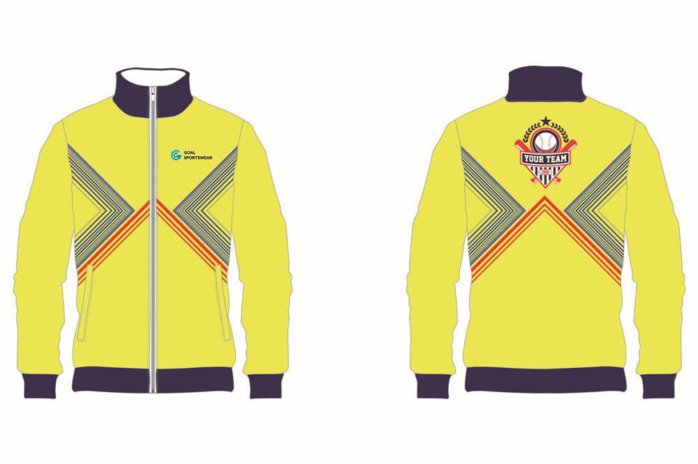 custom yellow baseball jackets
