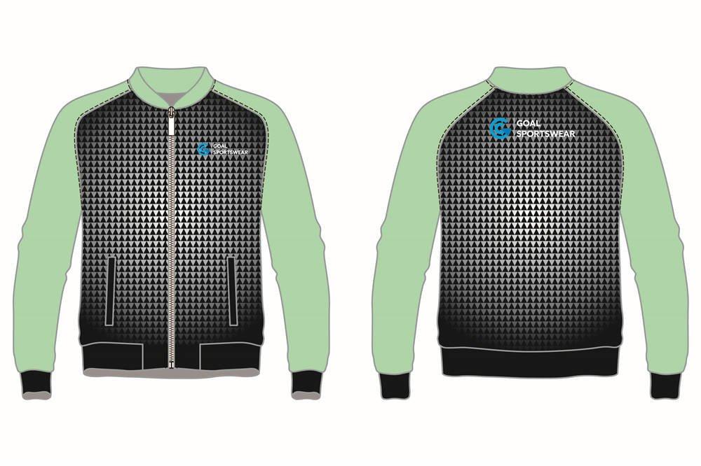 custom zipper up baseball jackets
