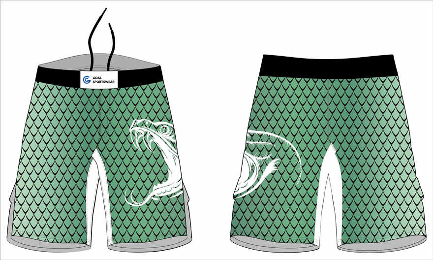 100% polyester dry fit sublimation printing custom team MMA shorts