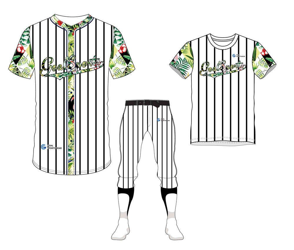 100% polyester sublimation custom printed baseball uniform packages