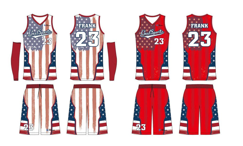 100% polyester sublimation custom printed reversible basketball jerseys