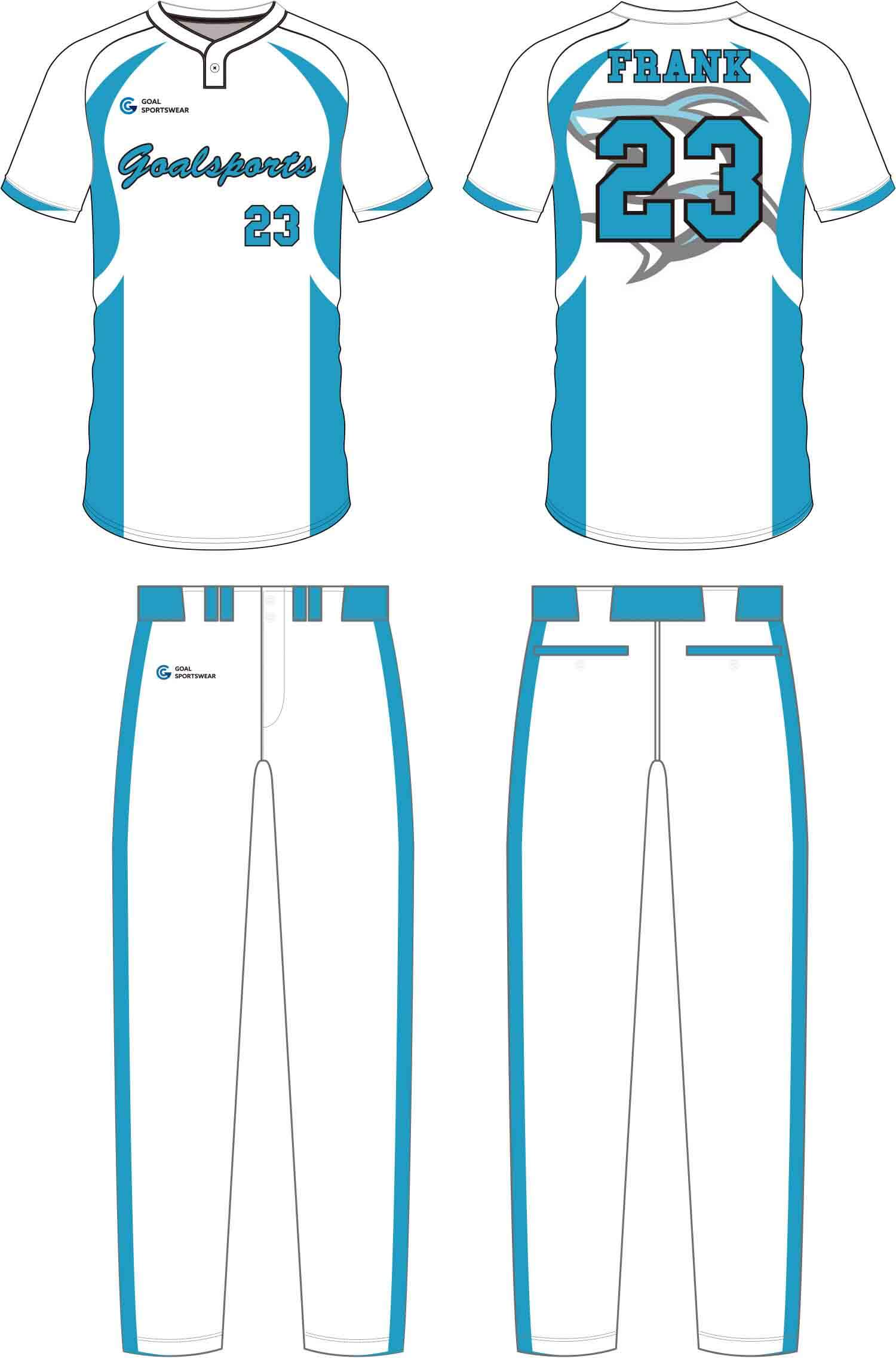 100% polyester sublimation mens custom Baseball Pants