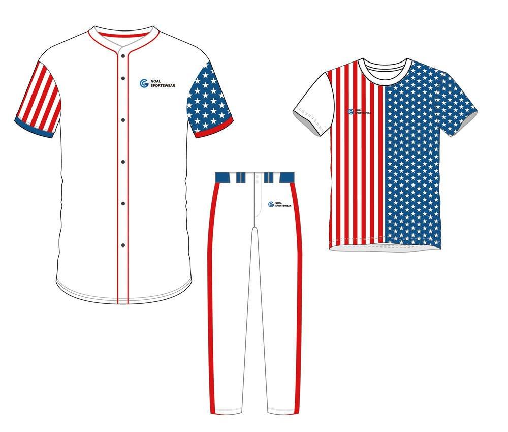 100% polyester sublimation mens custom baseball uniform packages