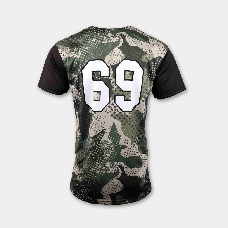 100% polyester sublimation mens custom slow pitch softball jerseys back