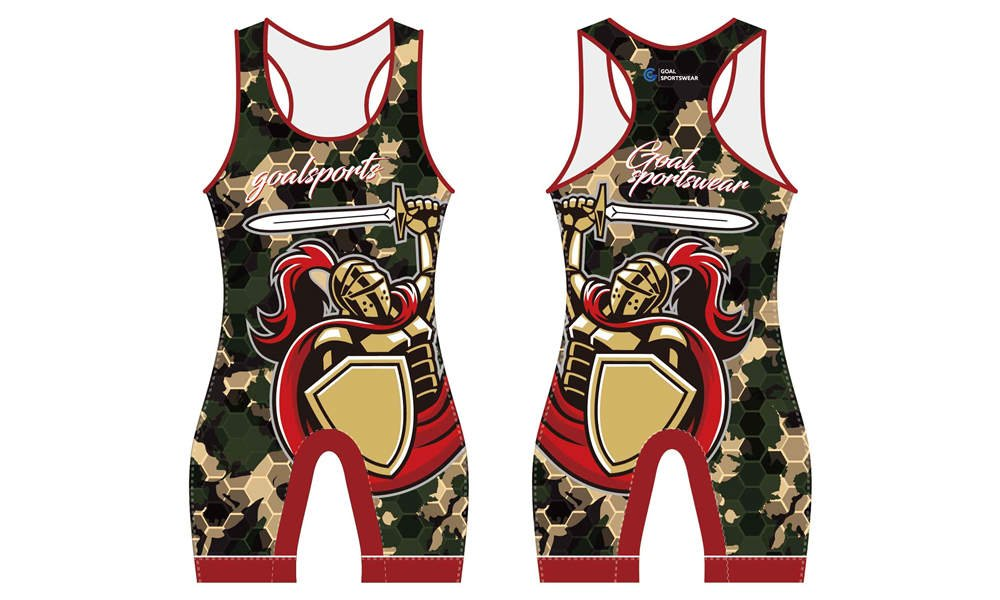100% polyester sublimation mens custom wrestling uniform
