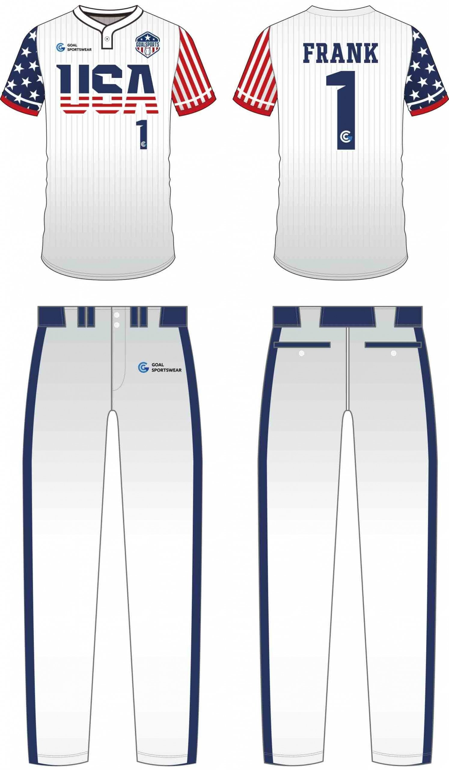 100% polyester sublimation printing custom youth team Baseball Pants