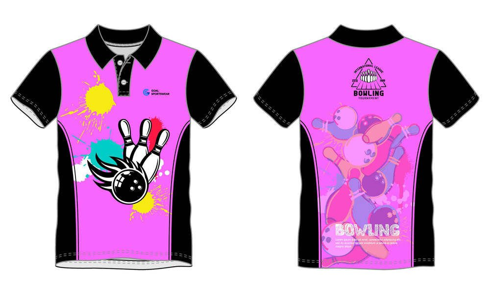 100% polyester sublimation printing custom youth team bowling jerseys