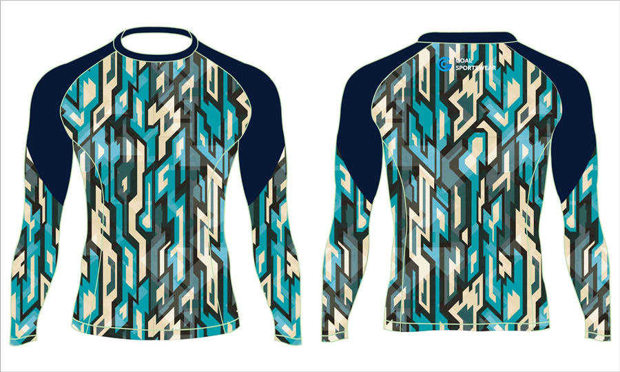 100% polyester sublimation printing custom youth team rash guard shirts